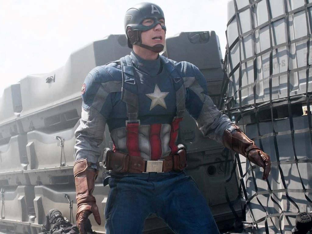 Captain America as played by Chris Evans. 0d3c9566d74