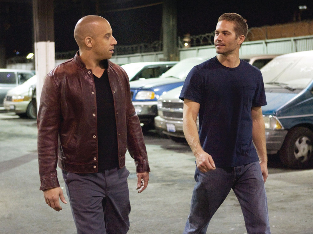 Vin Diesel As Dominic Toretto Left And Paul Walker Brian OConner Right In Fast Furious 4