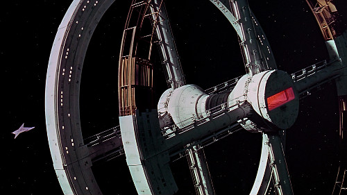 "A scene from ""2001: A Space Odyssey""."