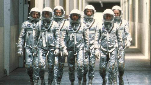 """The """"Mercury Seven"""" astronauts in """"The Right Stuff""""."""