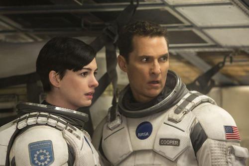 """Matthew McConaughey and Anne Hathaway in """"Interstellar""""."""