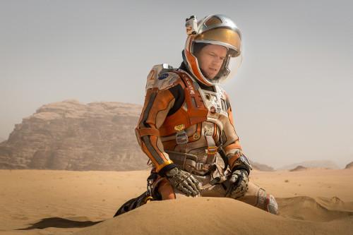 "Matt Damon in ""The Martian""."