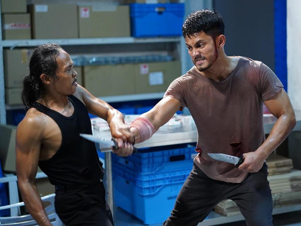 Salah satu babak membabitkan Hairul Azreen bertarung dengan Yayan Ruhian.