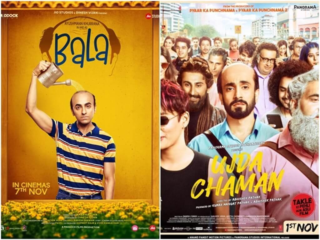 'Bala' dan 'Ujda Chaman' mempunyai tema filem yang serupa.