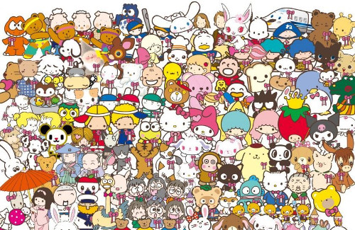 e0f6a607e So many cuties to choose from and this photo doesn't even feature all the Sanrio  characters.