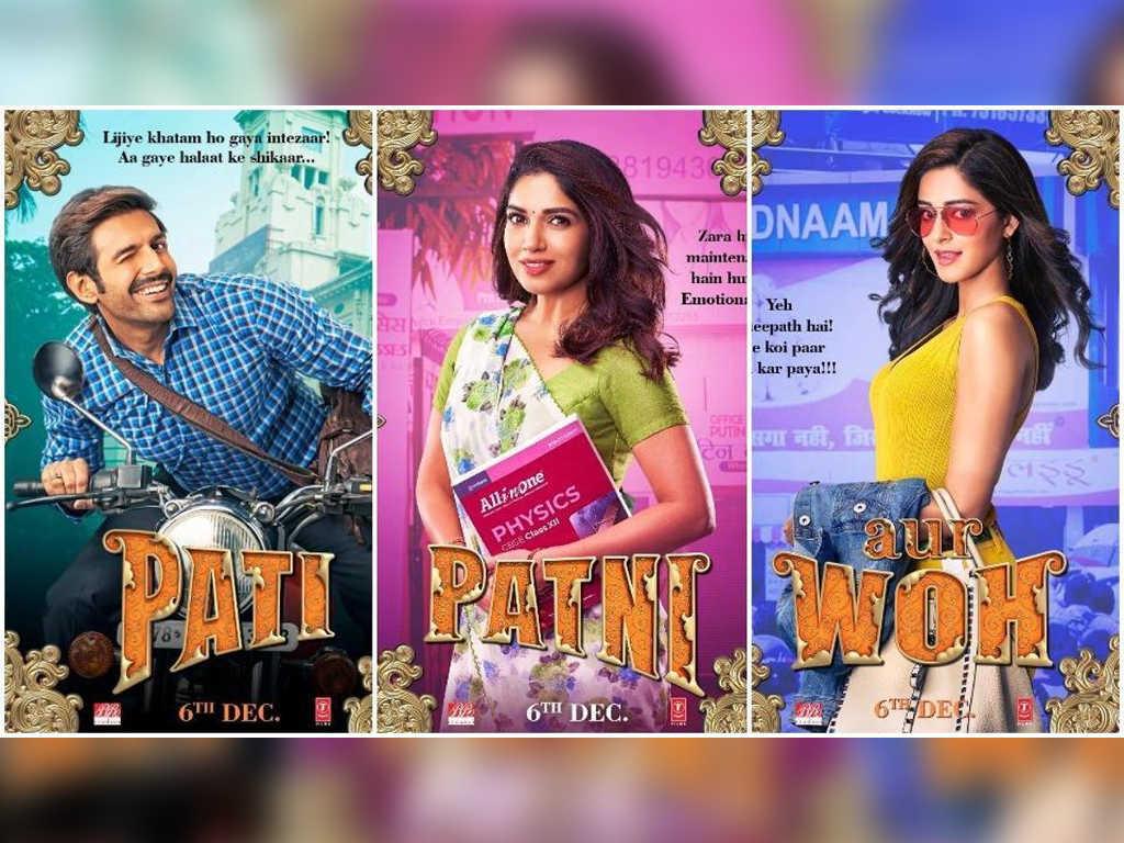 """""""Pati Patni Aur Who"""" dibintangi oleh Kartik Aaryan, Bhumi Pednekar dan Ananya Panday."""