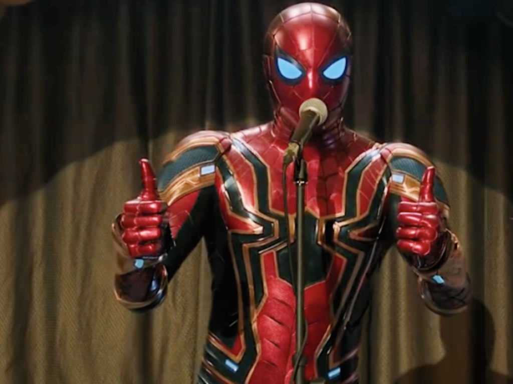 Looks like we're gonna keep seeing the webslinger in high tech Spidey suit.