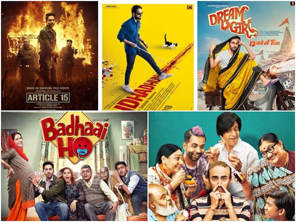 Semua filem lakonan Ayushmann Khurrana ini berkait dengan isu sosial dan isu semasa.