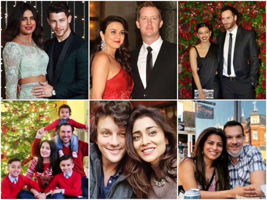 Selebriti Bollywood ini tampak bahagia bersama pasangan masing-masing.