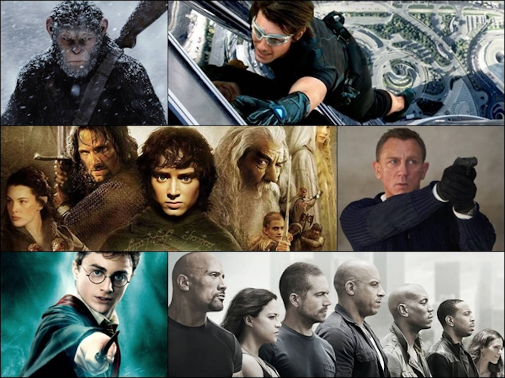 Which of these major film franchises have you watched to completion?