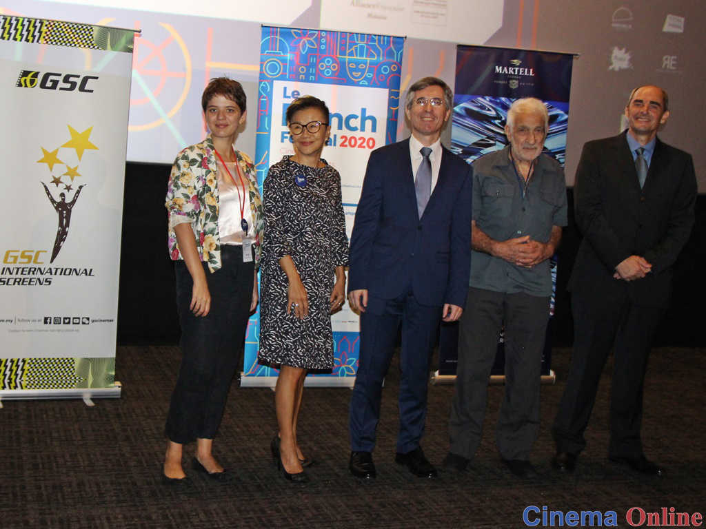 L-R: Julie Loffi (LFF Coordinator), Shirley Low (Chief Marketing Director, GSC), H.E. Frédéric Laplanche (Ambassador of France to Malaysia), Roger Kasparian (French photographer) and Jacques Bounin (Director of AFKL) at the press conference of LFF 2020..