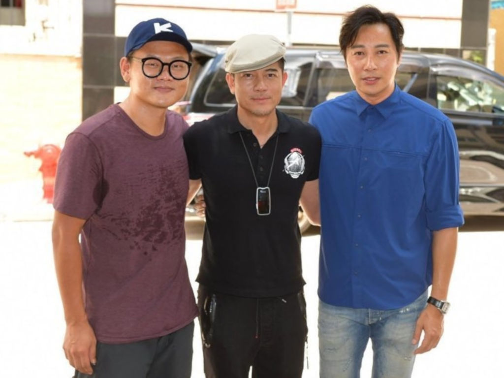 Aaron Kwok (middle) started filming for the now-halted