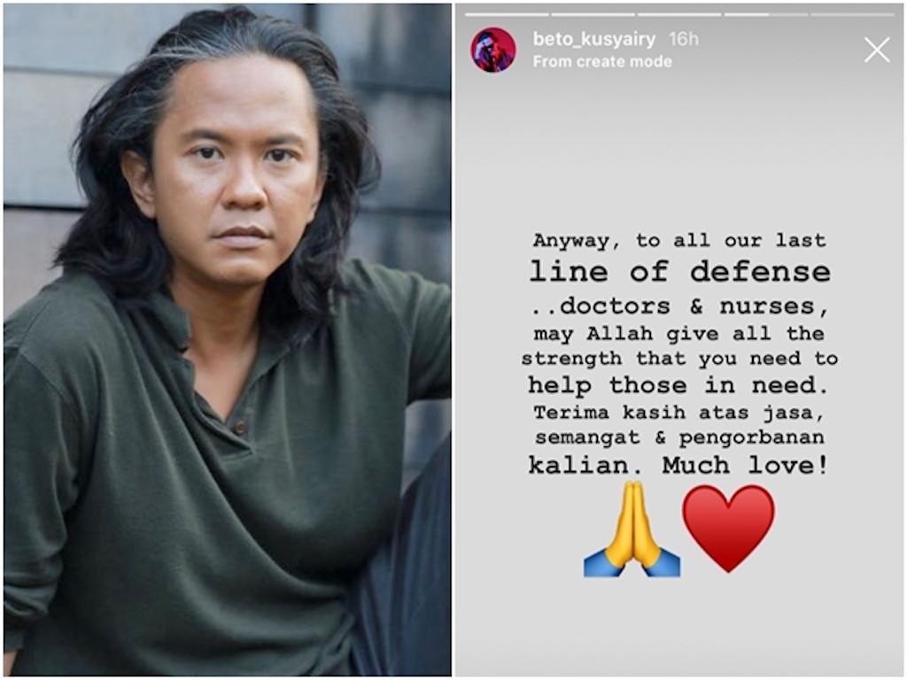 Beto Kusyairy doakan supaya semua pihak kekal sihat dan selamat.