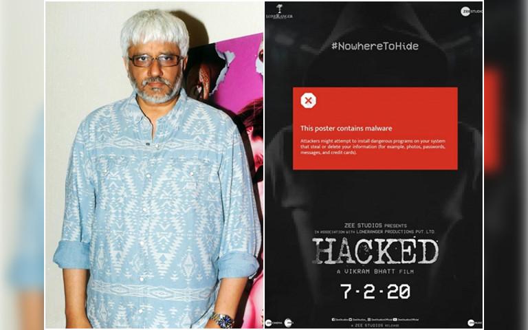 """Poster 'teaser' filem """"Hacked"""" yang dikongsikan oleh pengarah Vikram Bhatt."""