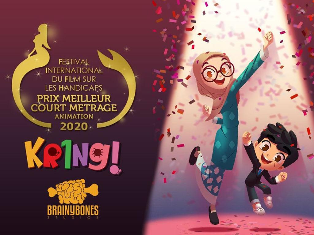 Animasi Kring! terbitan Brainy Bones Studios berjaya dapat pengiktirafan di peringkat antarabangsa.