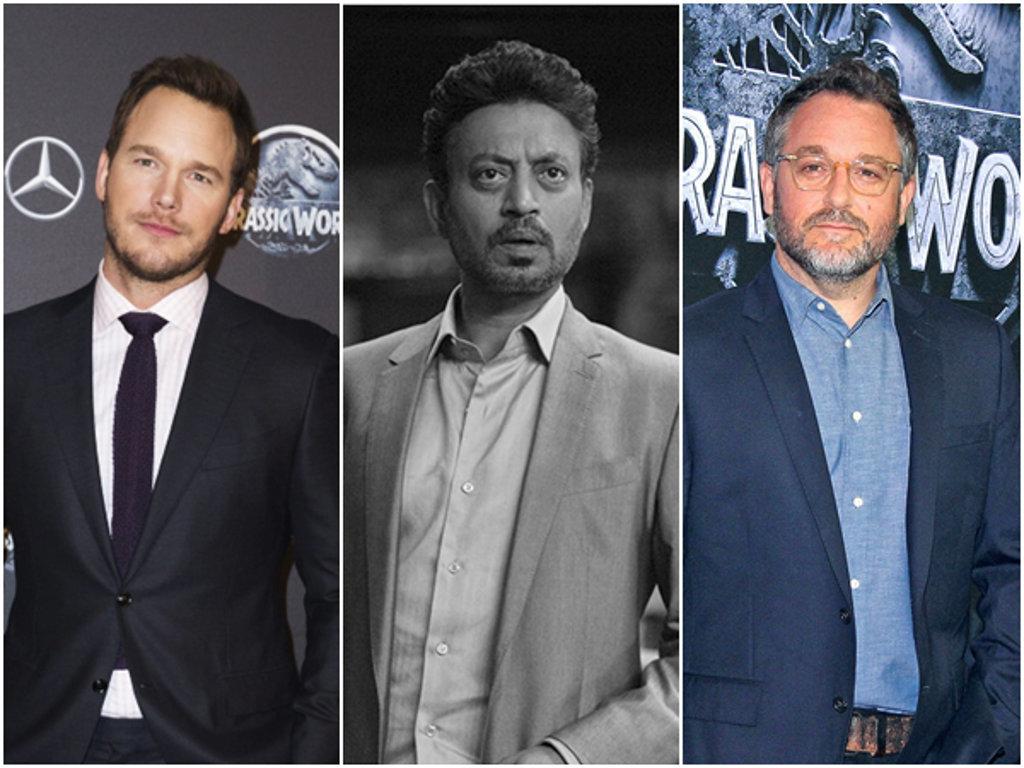 Chris Pratt dan pengarah Colin Trevorrow berduka cita atas pemergian Irrfan Khan.
