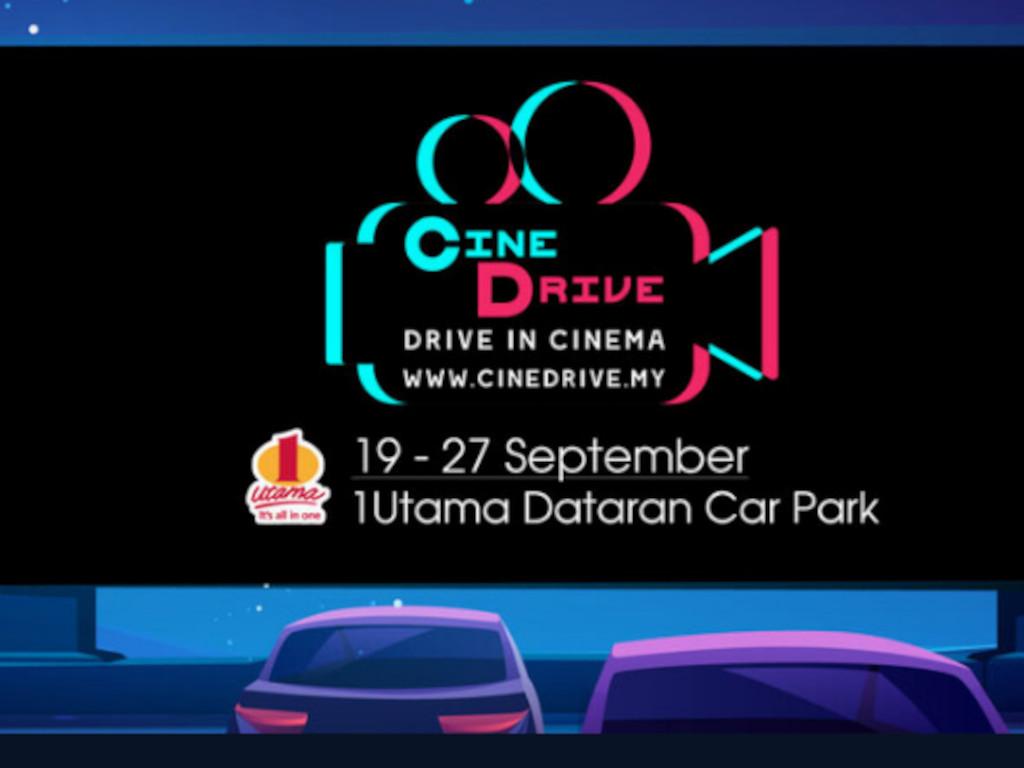 CineDrive will be held at 1 Utama Dataran Car Park from 19 to 27 September 2020.