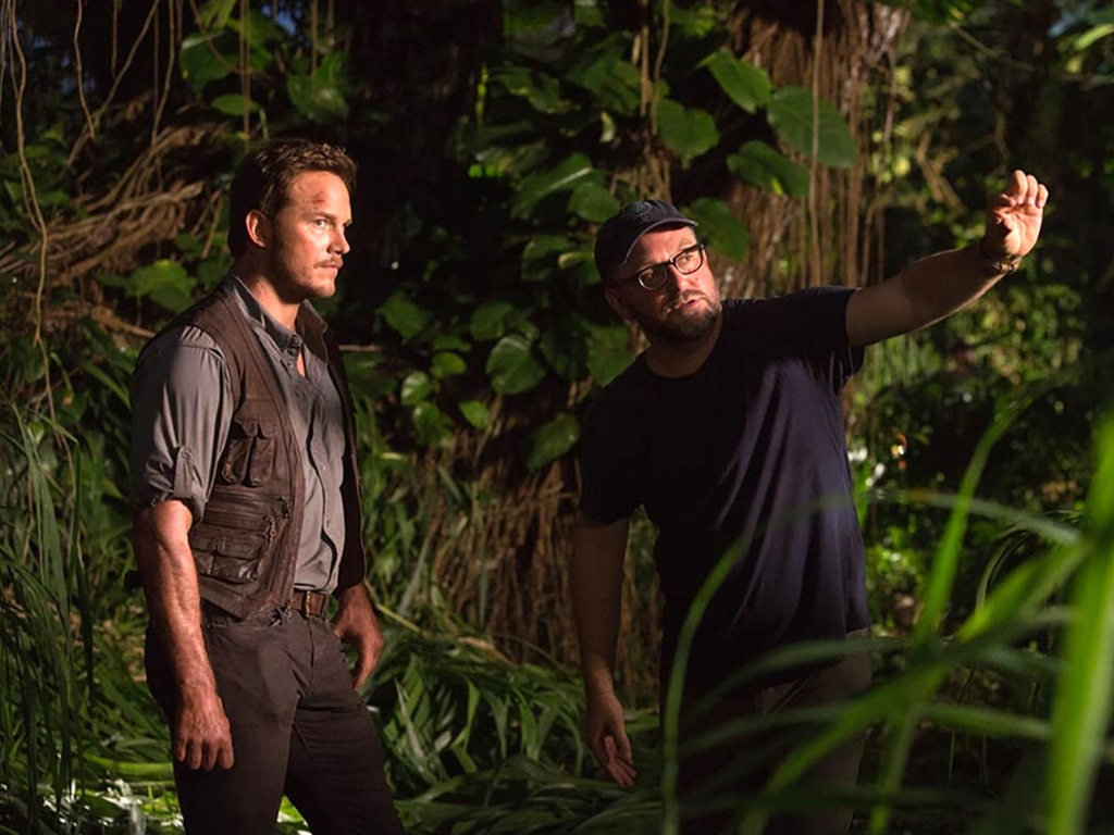 "Colin Trevorrow (R) is also preparing to resume production on ""Jurassic World: Dominion""."
