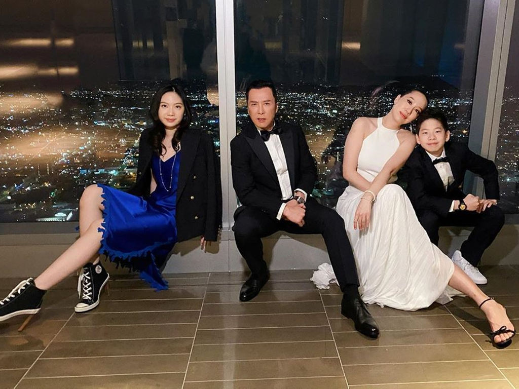 Donnie Yen with his family having a fun time in LA prior to their return to Hong Kong.