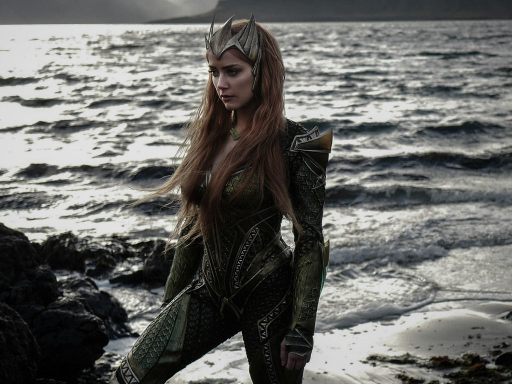 "Amber Heard debuted as Mera in 2017's ""Justice League""."