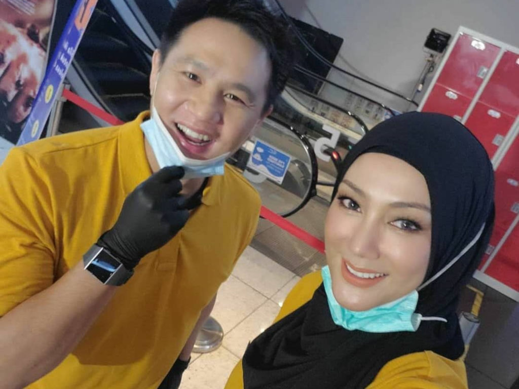 Erra Fazira (R) seen here with actor Douglas Lim.