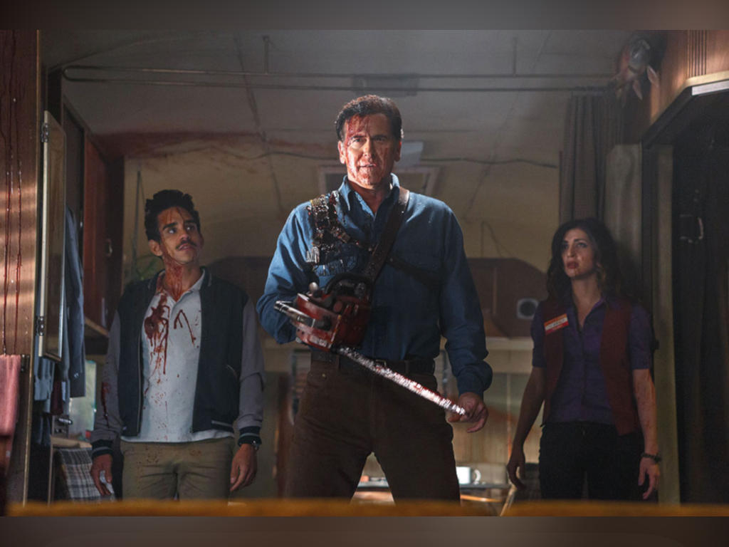 """Bruce Campbell (middle) revealed info on the new """"Evil Dead"""" movie, though he will not be returning to star in it."""
