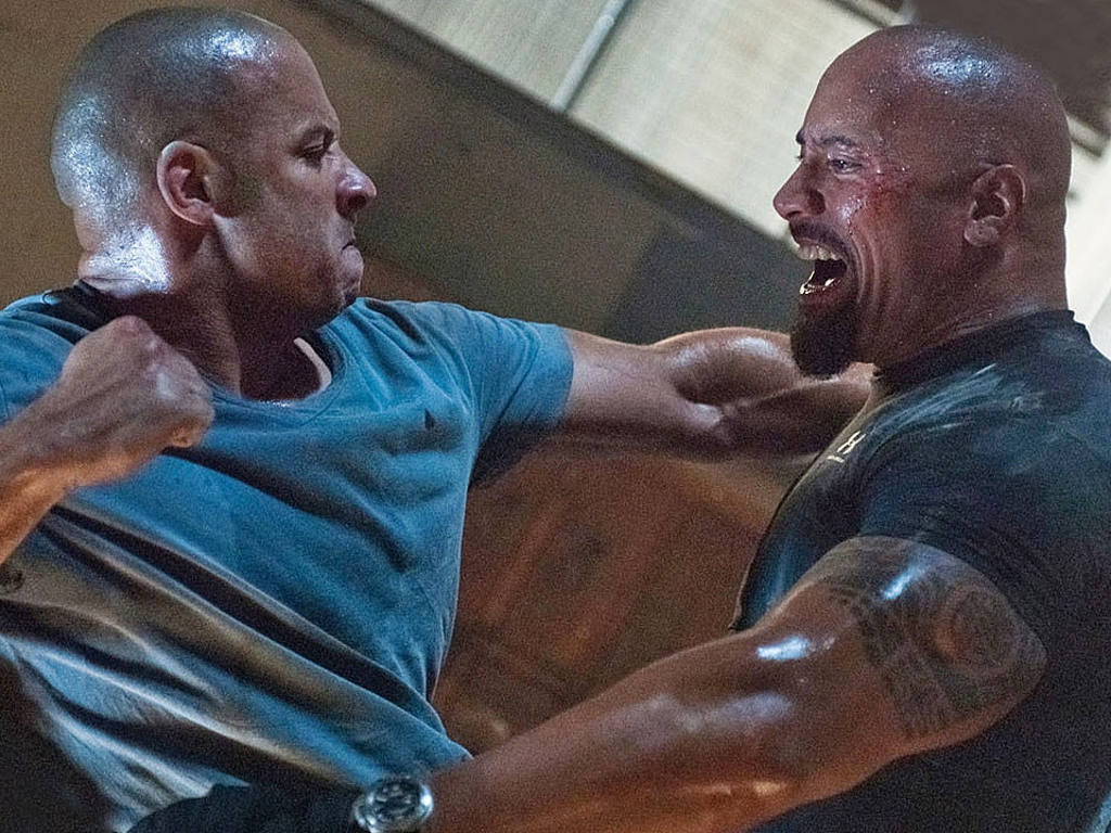 "The ""Fast and Furious"" feud has leaked from onscreen to offscreen between stars Vin Diesel and Dwayne Johnson."