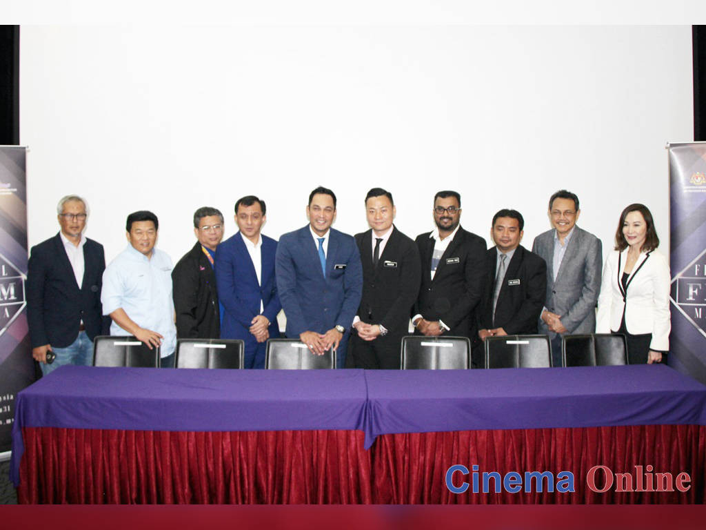 FINAS Chairman Datuk Hans Isaac with the FINAS board at the press conference of FFM31.
