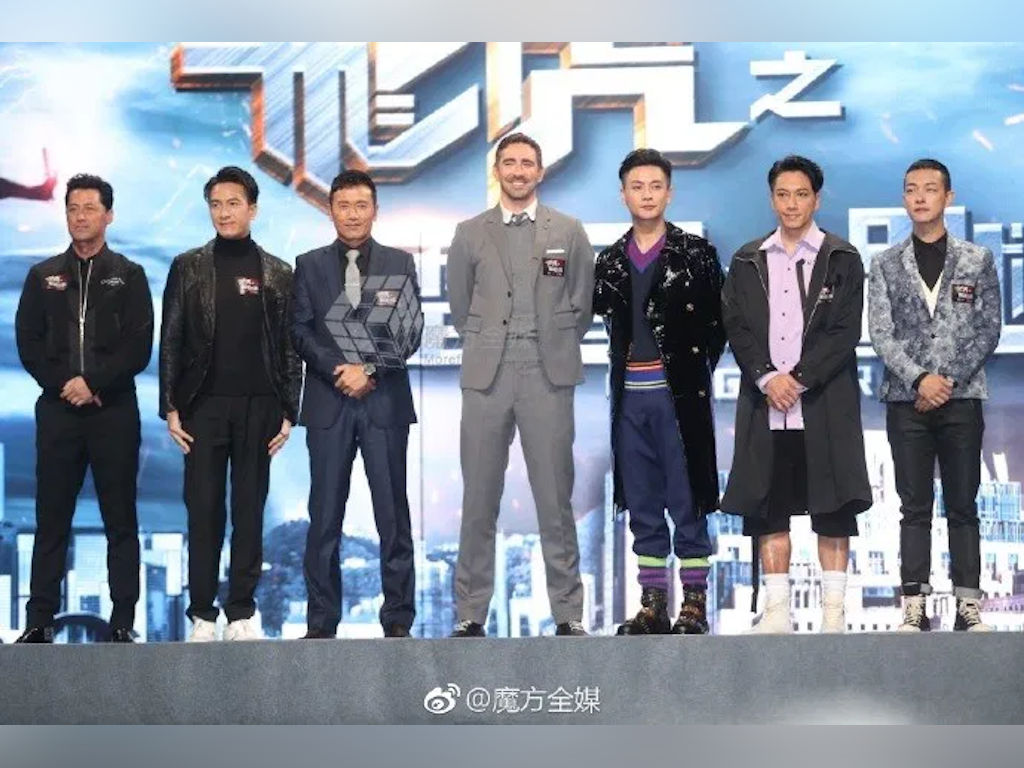 "Lee Pace (middle) seen here with his ""Flying Tiger 2"" co-stars."