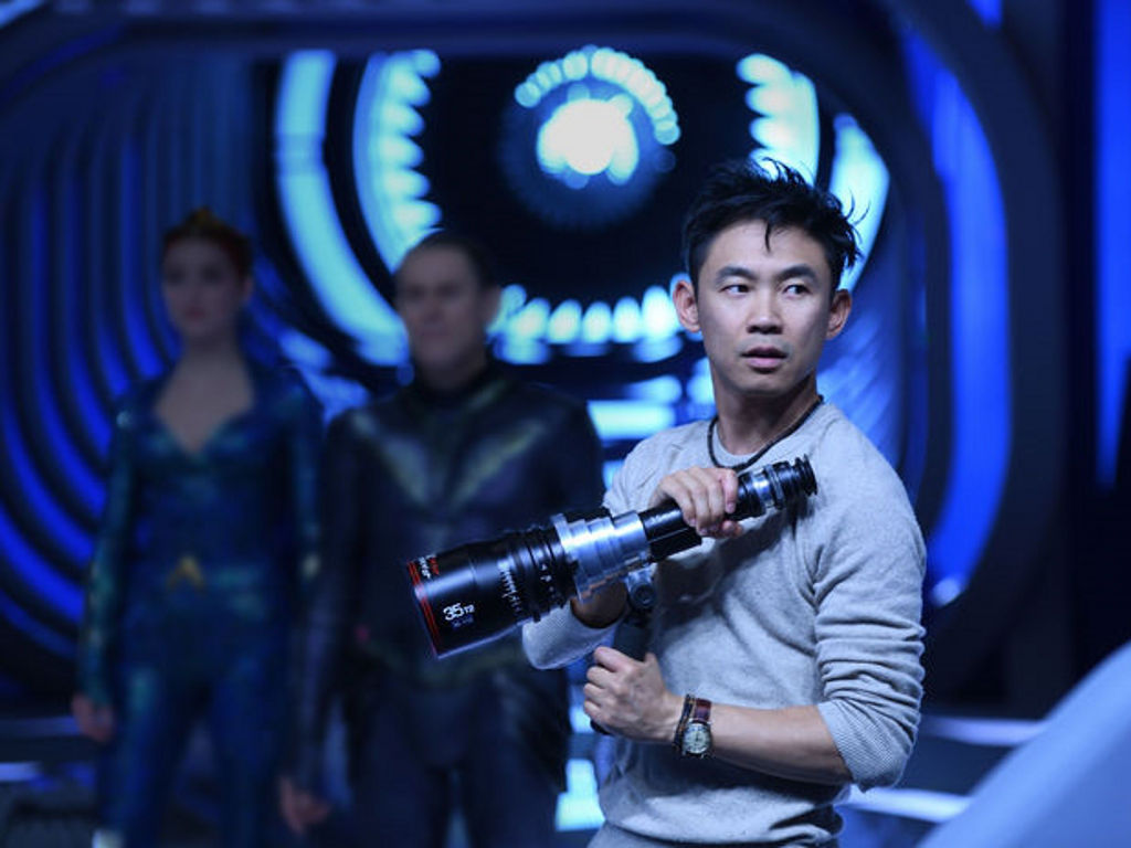 """James Wan, seen here directing """"Aquaman"""", is developing a monster movie for Universal."""