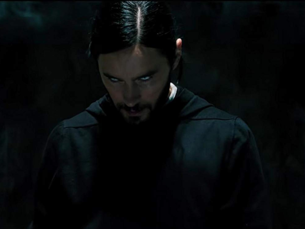"Jared Leto stars as the titular living vampire in ""Morbius""."