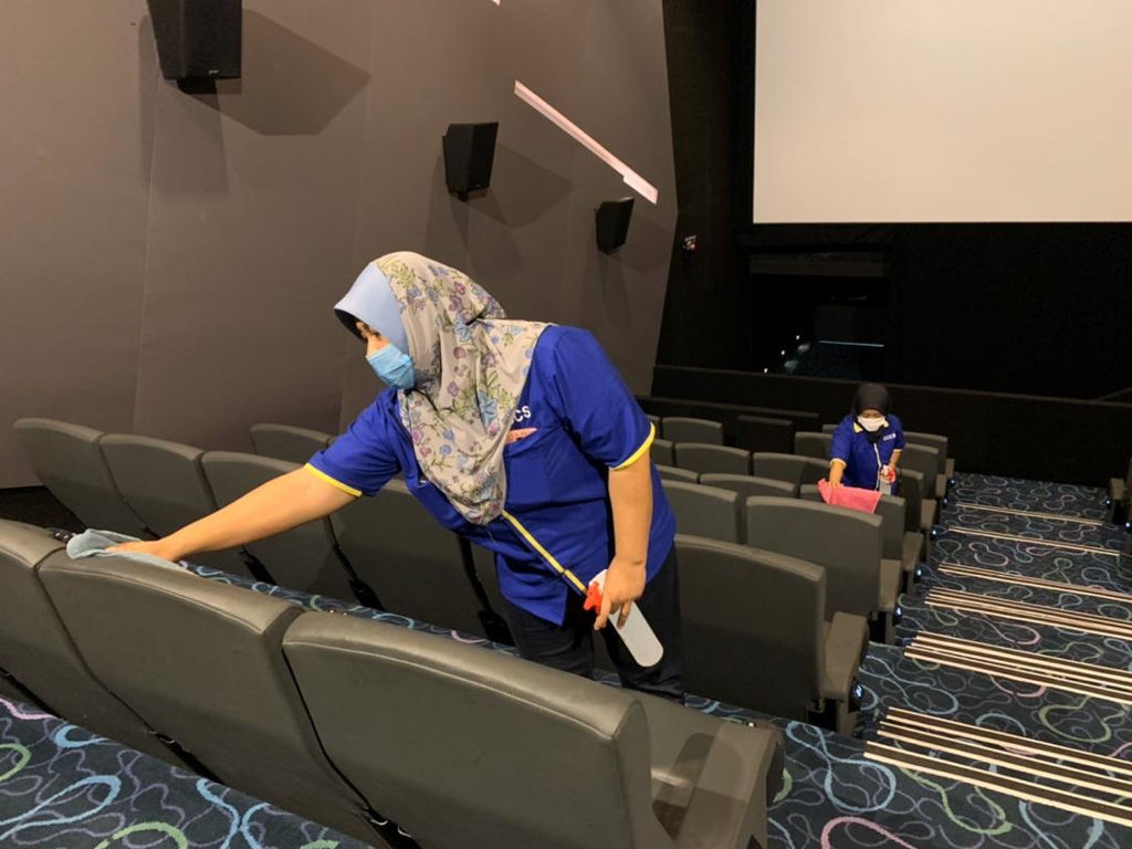 Cinemas like mmCineplexes are taking extra precautions to stop the spread of COVID-19.