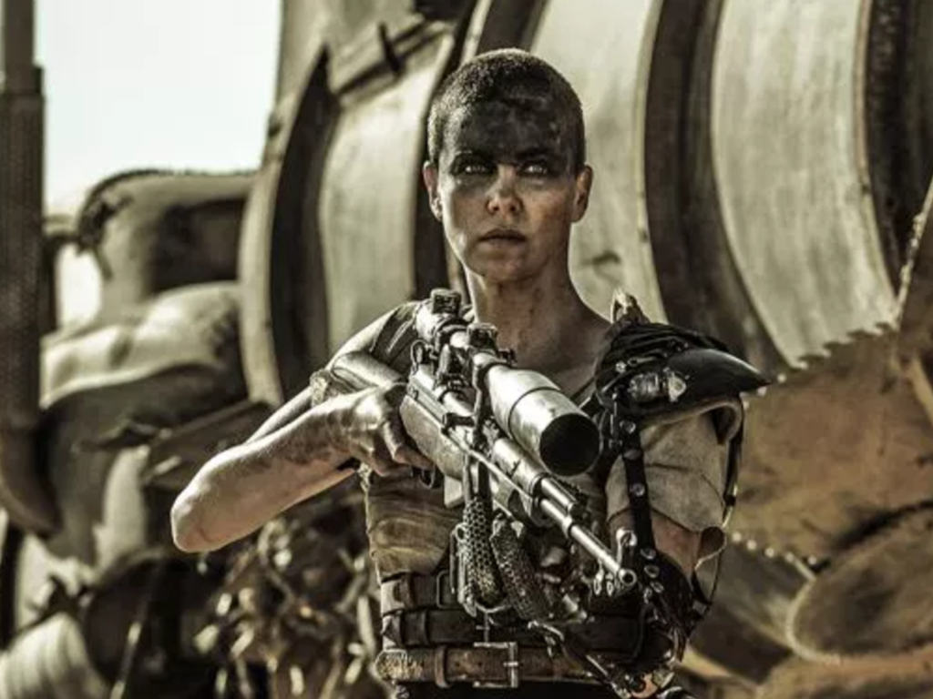"""Charlize Theron portrayed Furiousa in """"Mad Max: Fury Road""""."""