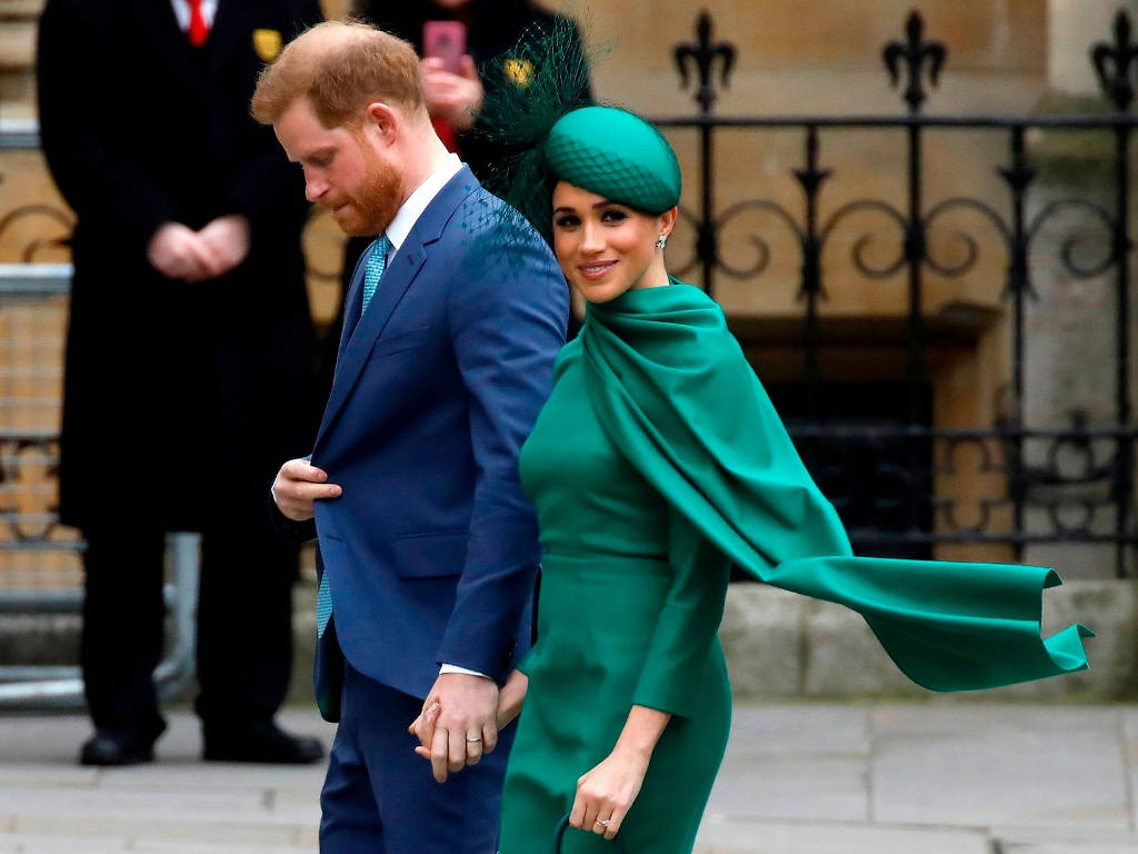 Meghan Markle seen here with her husband, Prince Harry.