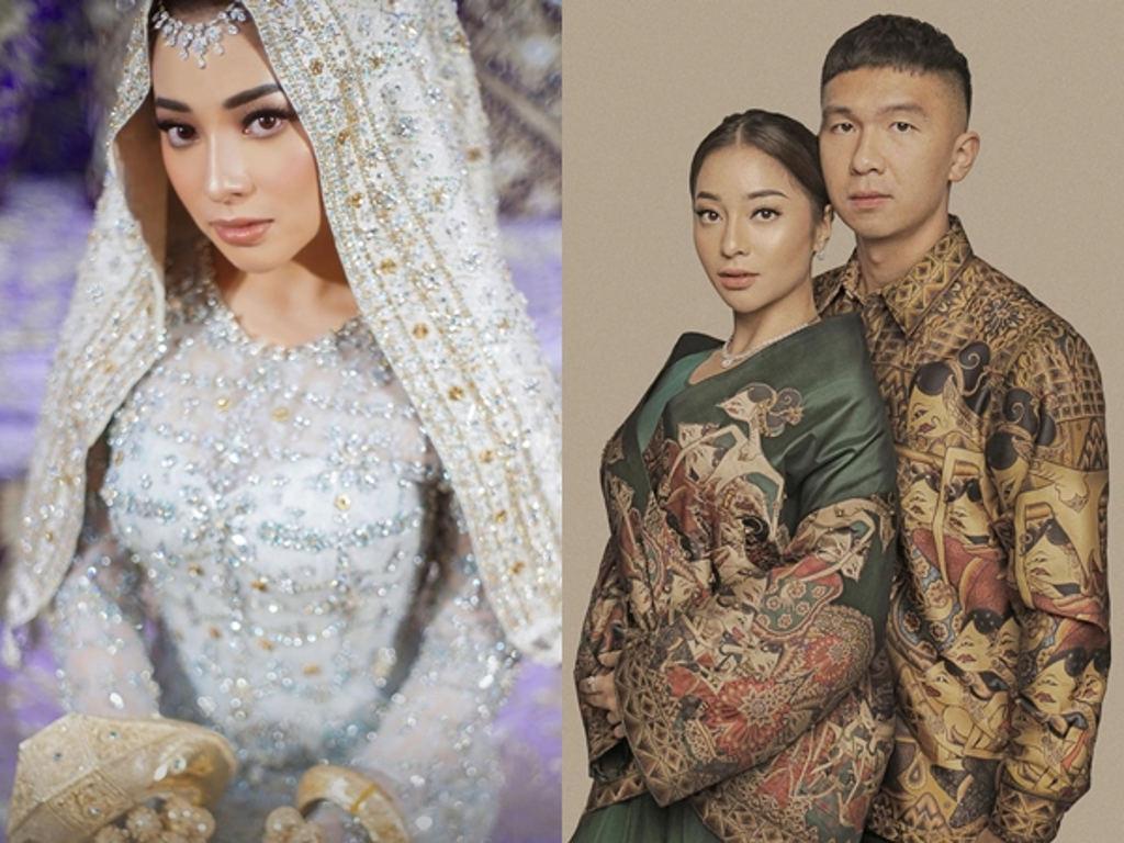 Nikita Willy anggun mengenakan busana pengantin bertemakan Minangkabau moden.