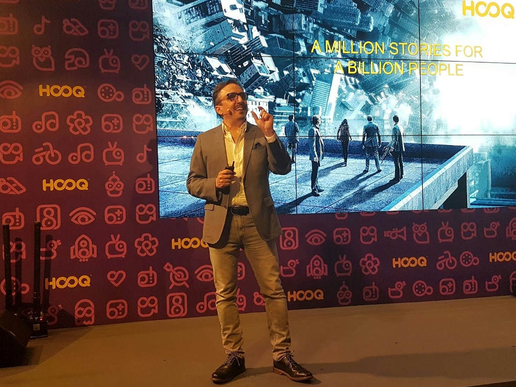 Peter Bithos, CEO of HOOQ, at the video streaming provider's launch in Singapore in 2016.