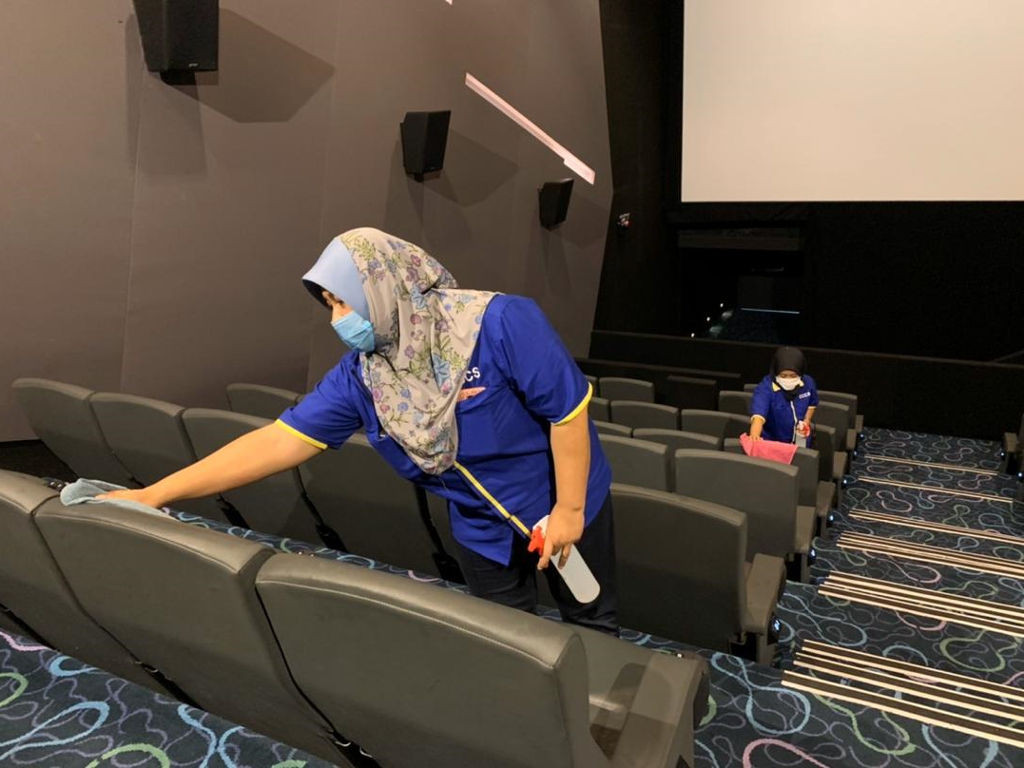 Malaysian moviegoers want reopened cinemas to be frequently sanitised.