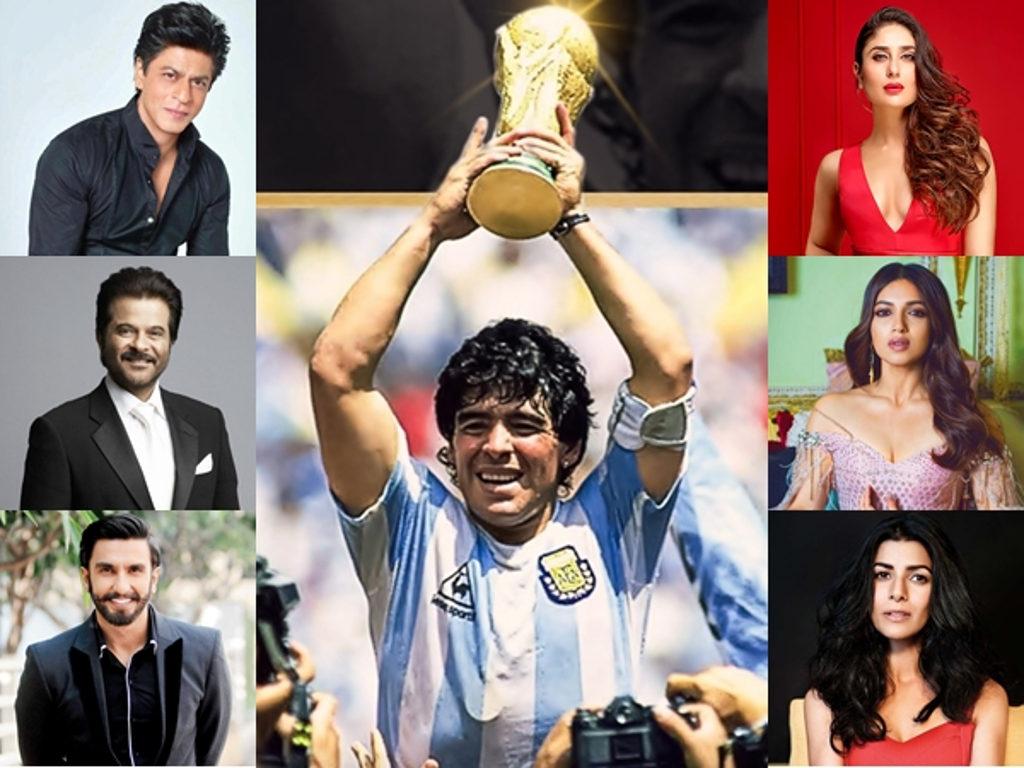 Selebriti-selebriti Bollywood terkesan dengan berita kematian Maradona.