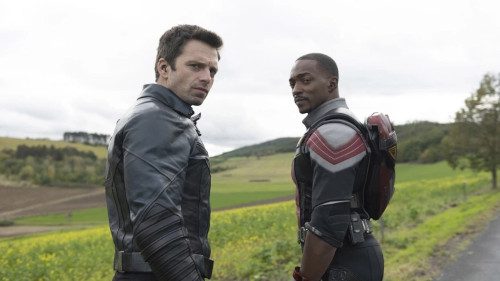 Anthony Mackie and Sebastian Stan as their titular characters in 'The Falcon and the Winter Soldier'