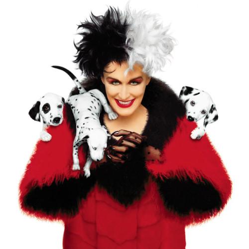 Glenn Close played Cruella in '101 Dalmations' and its sequel '102 Dalmations'