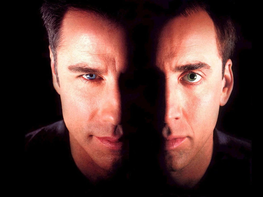 """If only facial transplants can be as seamless as they were on John Travolta and Nicolas Cage in """"Face/Off"""""""