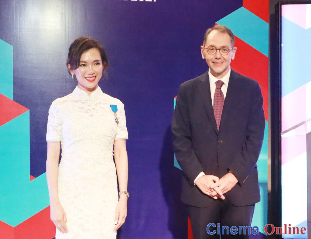 Ms. Koh Mei Lee with His Excellency Mr. Roland Galharague, Ambassador of France to Malaysia