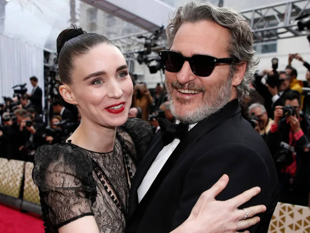 The golden couple at the Academy Awards where Joaquin Phoenix went on to win an Oscar