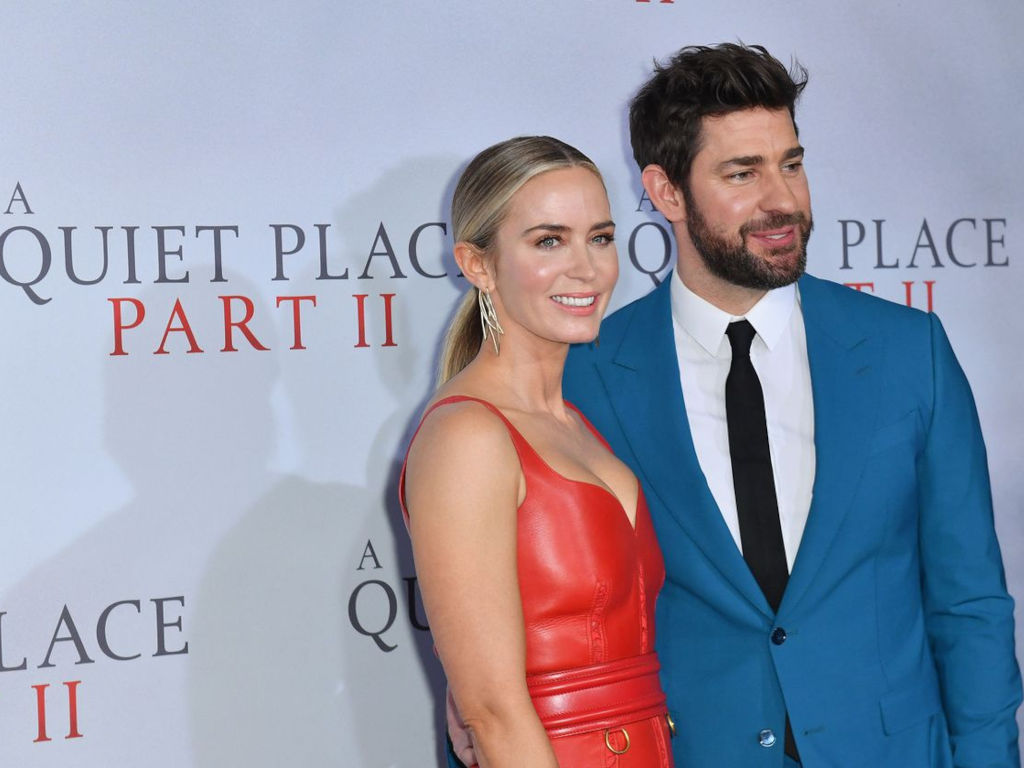 """John Krasinski wrote, directed and starred opposite real-life wife Emily Blunt in """"A Quiet Place"""""""