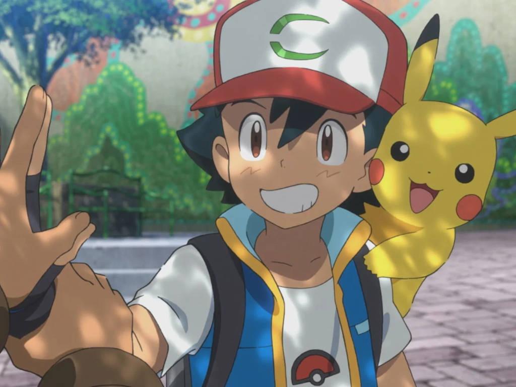 Ash and beloved Pikachu