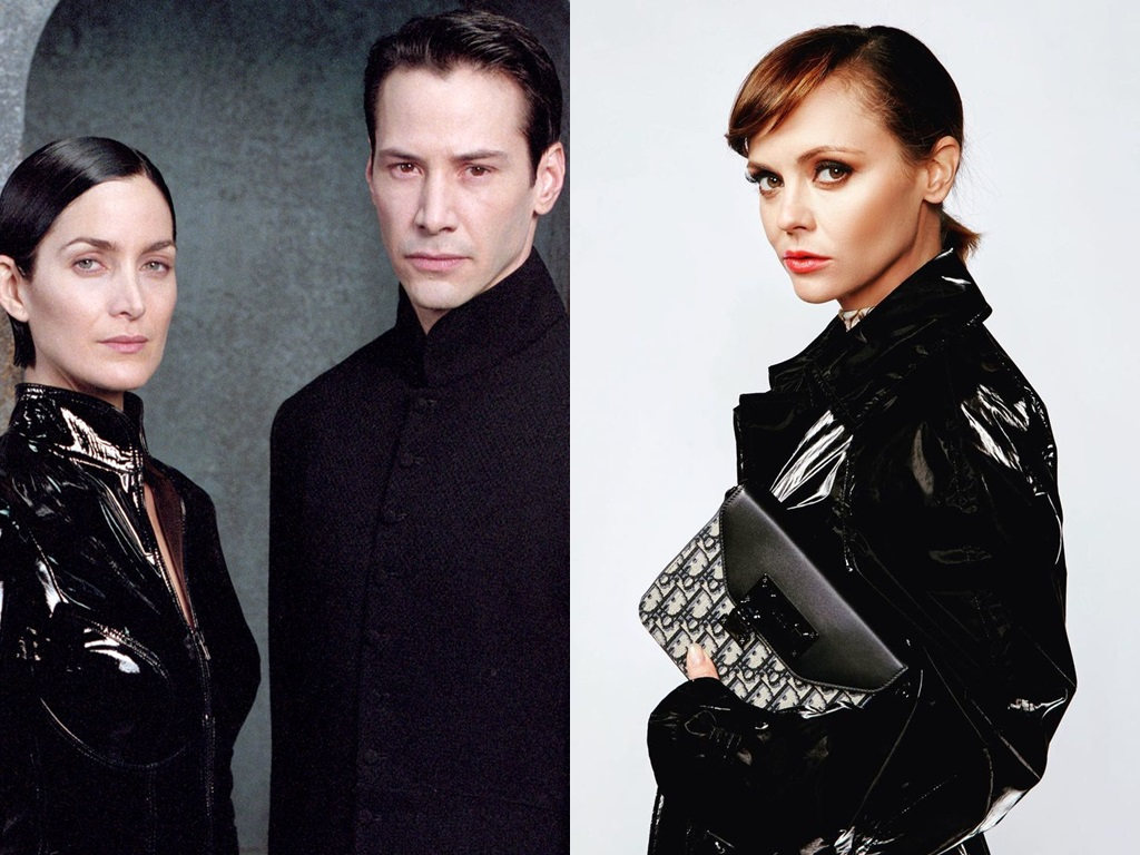 It is super cool that Christina Ricci joins Neo and Trinity in the Matrix world