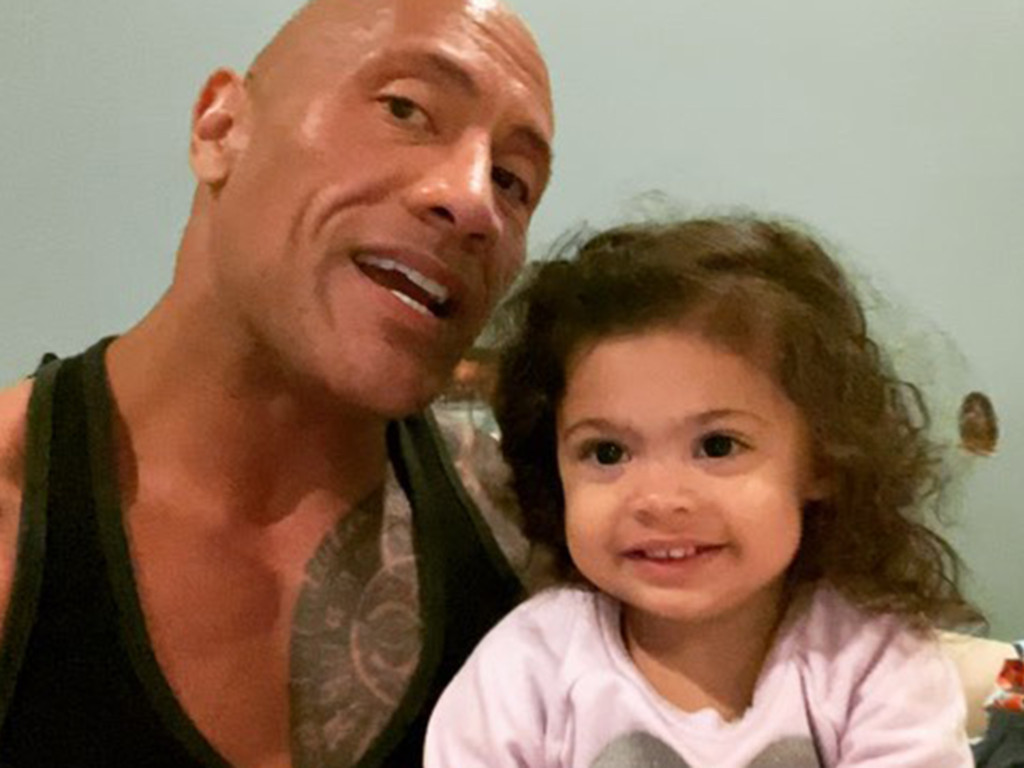 The Rock's little girl sure knows her preferred hero