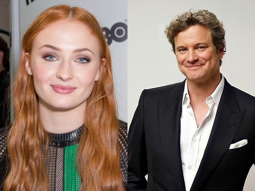 Sophie Turner plays the adopted daughter to Colin Firth's character in the upcoming series