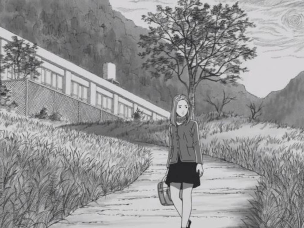 """""""Uzumaki"""" follows a teenage girl who lives in a remote town that has been cursed"""